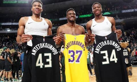 NBA: Έγραψαν ιστορία τα αδέρφια Αντετοκούνμπο - Τα πρώτα τρία που κατακτούν τίτλο (pics)