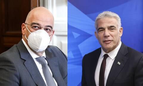 Οι παράνομες τουρκικές ενέργειες στο επίκεντρο της συνομιλίας Δένδια - Ισραηλινού ΥΠΕΞ