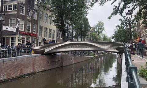 Άμστερνταμ: Η πρώτη ατσάλινη γέφυρα από τρισδιάστατο εκτυπωτή (pics)
