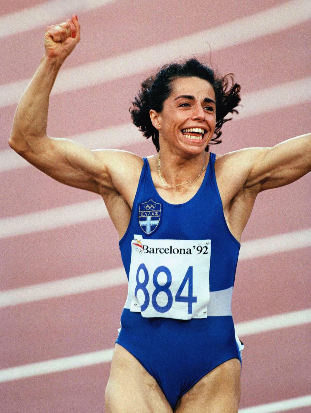 Η Βούλα Πατουλίδου στους Ολυμπιακούς Αγώνες του 1992