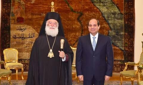 Ο Πατριάρχης Θεόδωρος συνεχάρη τον Αλ Σίσι για την Εθνική επέτειο της Αιγύπτου