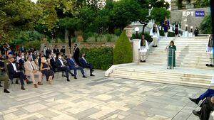 Αποκατάσταση Δημοκρατίας: Σε εξέλιξη η δεξίωση στο Προεδρικό - Οι συμβολικές παρουσίες