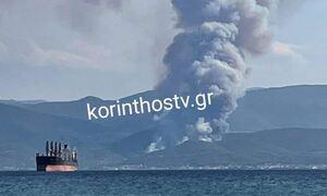 Φωτιά ΤΩΡΑ: Μάχη με τις φλόγες στην Κορινθία - Ενισχύθηκαν οι πυροσβεστικες δυνάμεις
