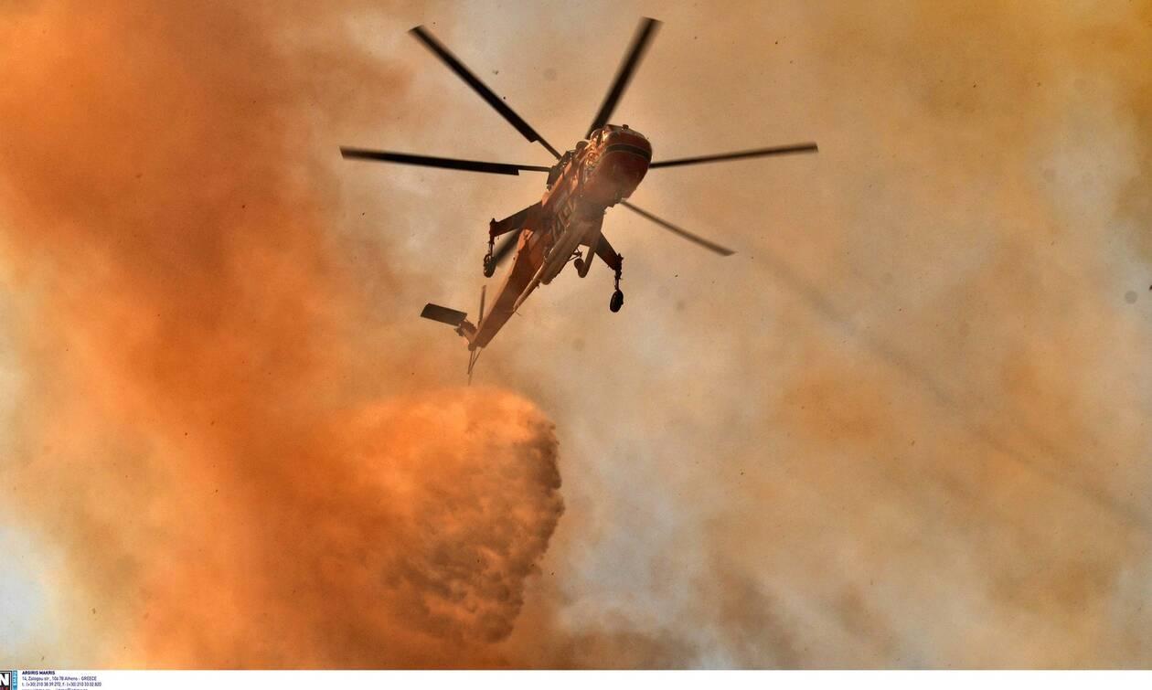 Φωτιά: Καλύτερη η εικόνα της πυρκαγιάς στην Αργολίδα