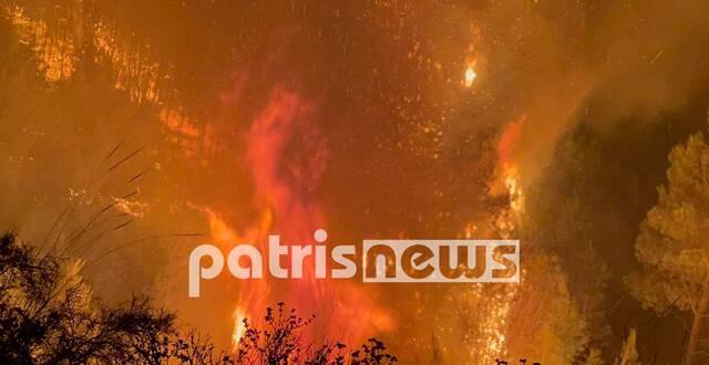 Πυρκαγιά στην Κορυφή Ηλείας