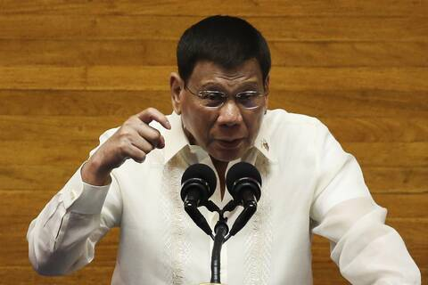 O πρόεδρος των Φιλιππίνων Ντουτέρτε