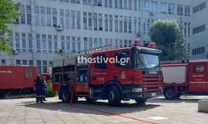 Φωτιά ΤΩΡΑ σε κτήριο της Ιατρικής Σχολής του ΑΠΘ