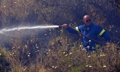Υπό έλεγχο η φωτιά που εκδηλώθηκε στο λόφο Αράπη στο Βύρωνα