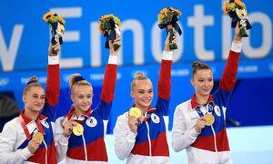 Российские гимнастки впервые победили в командном многоборье на Олимпийских играх