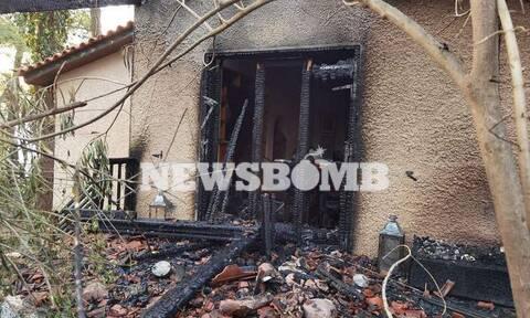 Οδοιπορικό Newsbomb.gr στη Σταμάτα: Παντού στάχτη και καταστροφή - Καμένα σπίτια και αυτοκίνητα