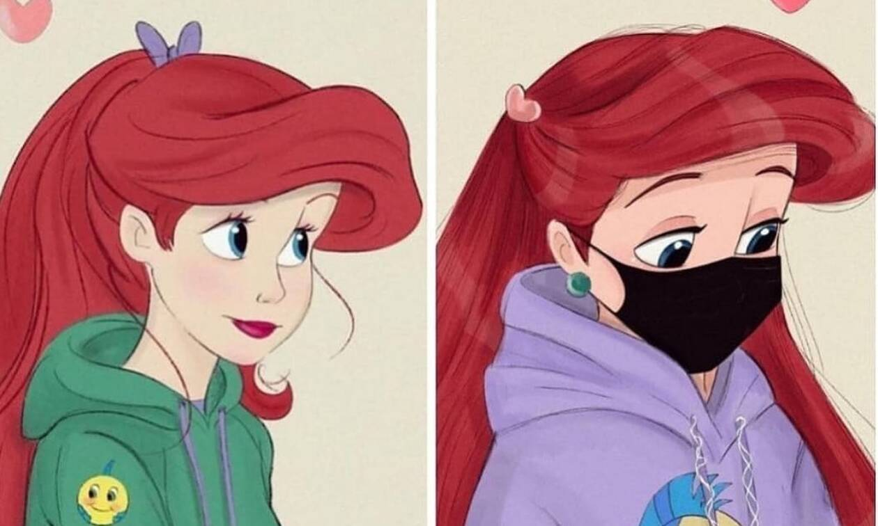 Όταν οι πριγκίπισσες της Disney φορούν μάσκα κατά του κορονοϊού