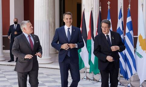 Μητσοτάκης: Είμαστε αποφασισμένοι να διευρύνουμε τις σχέσεις μας με Κύπρο -Ιορδανία