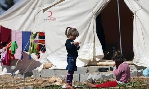 Πρόσφυγες στα σύνορα Τουρκίας-Συρίας