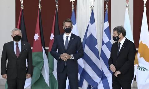 Τριμερής Ελλάδας - Κύπρου - Ιορδανίας: Όχι στις μονομερείς ενέργειες της Τουρκίας