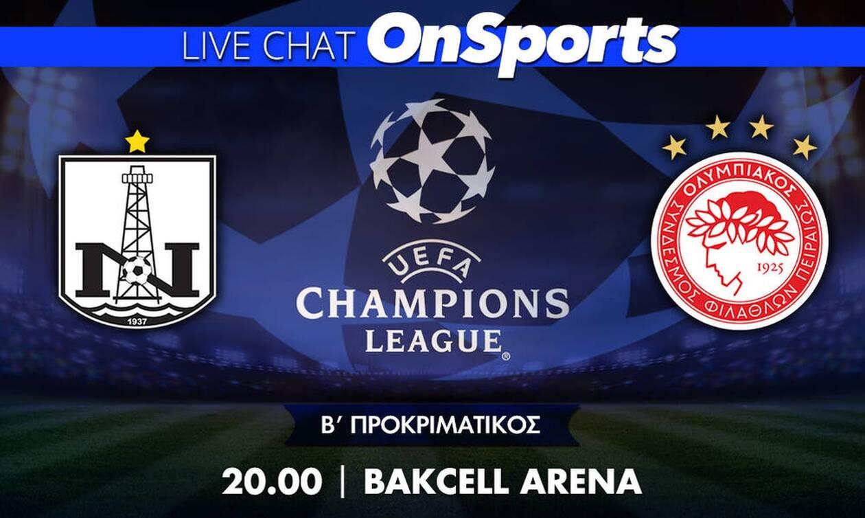 Live Chat Νέφτσι Μπακού-Ολυμπιακός