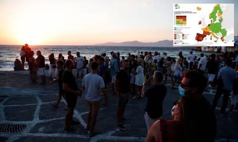 Πώς «κοκκίνησε» ξανά όλη η Ελλάδα