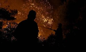 Φωτιά: Δύσκολη μάχη με τις φλόγες στο Θύριο Βόνιτσας - Εκκενώθηκε προληπτικά ο οικισμός Δρυμός