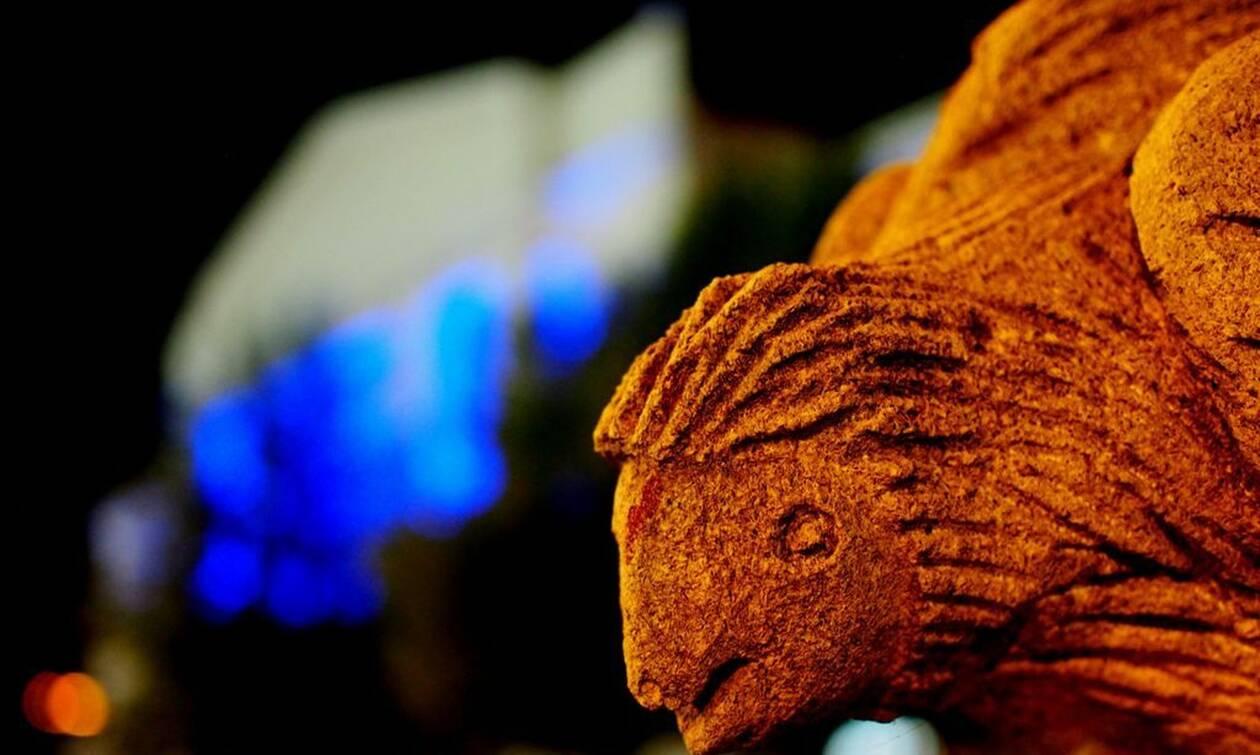 Ολυμπιακοί Αγώνες: Στα μπλε της Ελλάδας για τον Μίλτο Τεντόγλου το Δημαρχείο Γρεβενών (photos)
