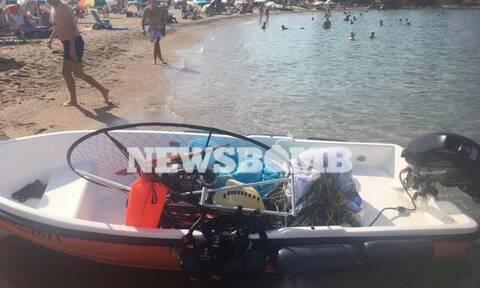 Γλυφάδα: Παραλίγο τραγωδία με ανεμόπτερο που έπεσε στην παραλία - Ρεπορτάζ Newsbomb.gr