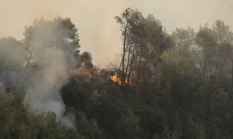Φωτιά ΤΩΡΑ στη Ρόδο - Επιχειρεί και το θηριώδες Beriev-200