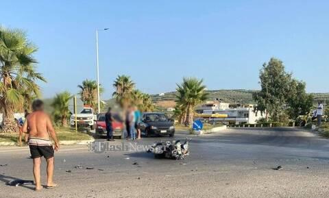Σοβαρό τροχαίο στα Χανιά: Μηχανές συγκρούστηκαν μετωπικά