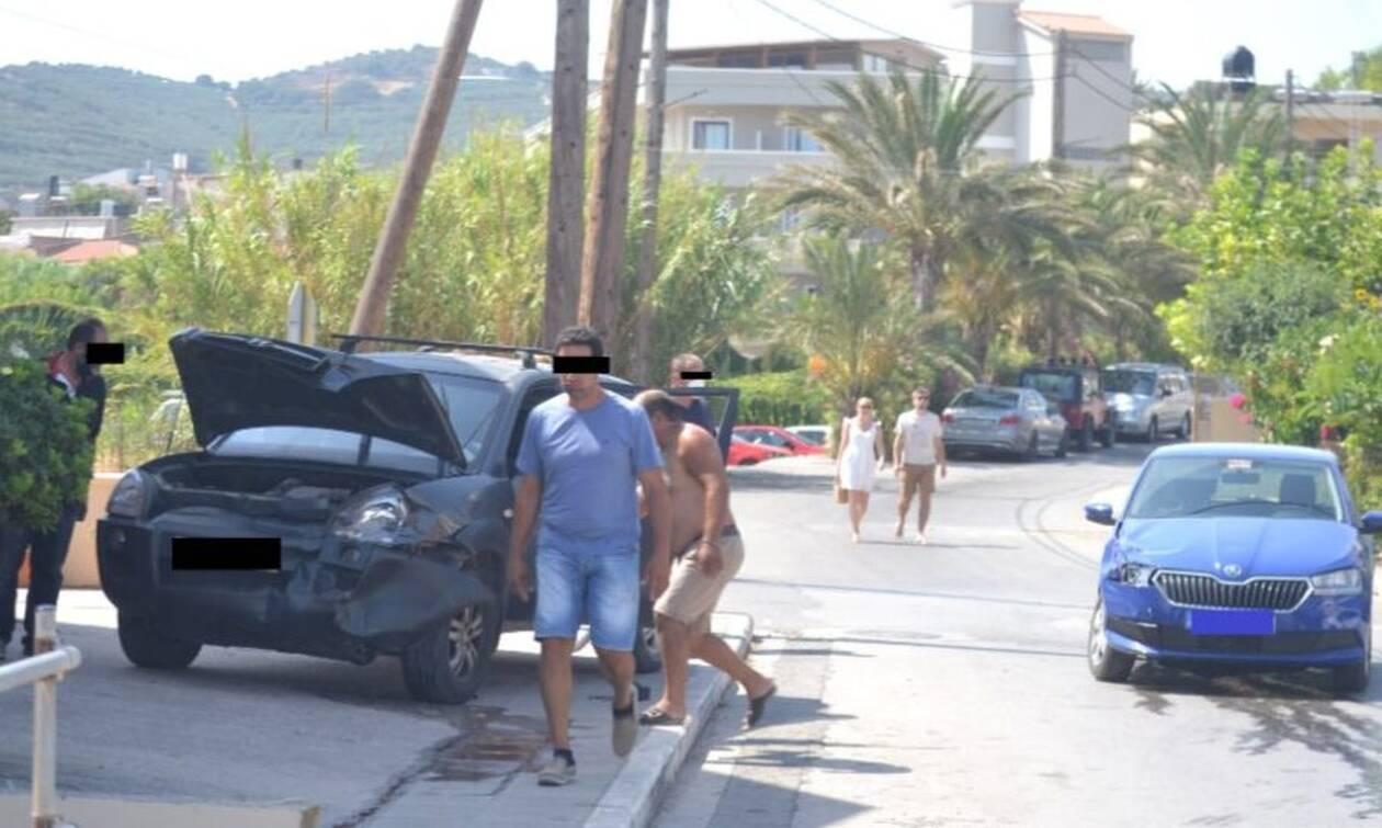 Κρήτη: Παραβίασε το stop, τα πήρε όλα αμπάριζα και καβάλησε το πεζοδρόμιο