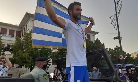 Στέφανος Ντούσκος: Μεγαλειώδη υποδοχή του χρυσού Ολυμπιονίκη