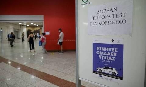 Κορονοϊός: Δωρεάν rapid test αύριο Τρίτη (3/8) σε 143 σημεία σε όλη τη χώρα