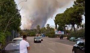 Μήνυμα από το 112 για τη φωτιά στη Βαρυμπόμπη