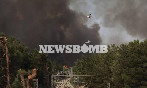 Φωτιά στη Βαρυμπόμπη: Νέο μήνυμα από το 112 – Εκκενώστε Θρακομακεδόνες και Ολυμπιακό Χωριό