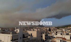 Φωτιά στη Βαρυμπόμπη: Πνίγεται στους καπνούς η Αττική - Αποφύγετε τις άσκοπες μετακινήσεις