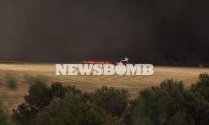 Φωτιά Βαρυμπόμπη: Δεκάδες απεγκλωβισμοί κατοίκων - Σώοι και οι αστυνομικοί και οι πυροσβέστες