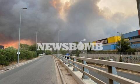 Φωτιά στη Βαρυμπόμπη: Διακοπή κυκλοφορίας στην Αθηνών-Λαμίας από Καπανδρίτι μέχρι Λυκόβρυση