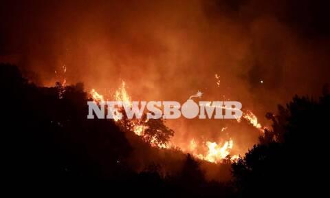 Φωτιά στη Βαρυμπόμπη Λέκκας