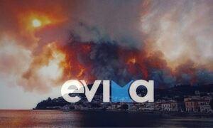 Φωτιά ΤΩΡΑ: Καίγονται σπίτια στην Εύβοια – «Ολοκαύτωμα», λέει ο δήμαρχος Μαντουδίου στο Newsbomb.gr