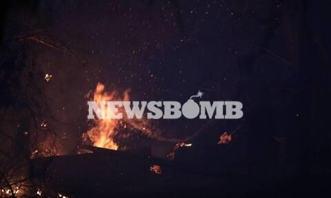 Φωτιά Βαρυμπόμπη - ΣΥΡΙΖΑ: Έχασαν τον έλεγχο με ανέμους 2 και 3 μποφόρ