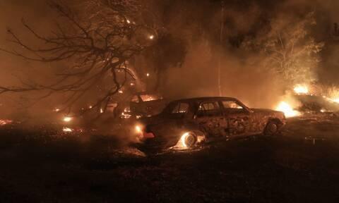 Φωτιά στη Βαρυμπόμπη στάχτες
