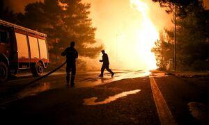 Φωτιά: Τεράστια μάχη στο Κοιμητήριο Κρυονερίου για να μην περάσει η πυρκαγιά στον οικισμό
