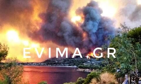 Φωτιά στην Εύβοια: Η πυρκαγιά είναι ανεξέλεγκτη - Δύο τα ενεργά μέτωπα αυτή την ώρα