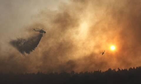 Φωτιά στη Βαρυμπόμπη: Σε ύφεση τα πύρινα μέτωπα - Επιχειρούν τα εναέρια μέσα