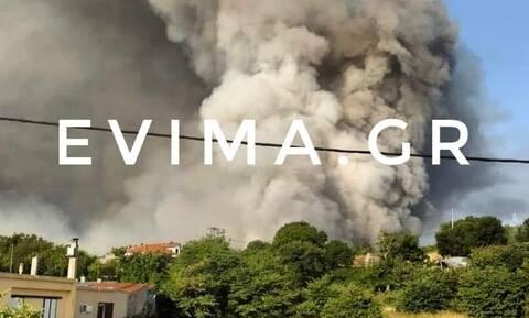 Φωτιά στη Λίμνη Ευβοίας: Συναγερμός στο χωριό Κουρκουλοί - Εκκενώθηκαν 12 χωριά