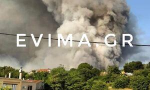 Φωτιά στη Λίμνη Ευβοίας: Συναγερμός στο χωριό Κουρκουλοί - Νέα μεγάλη αναζωπύρωση