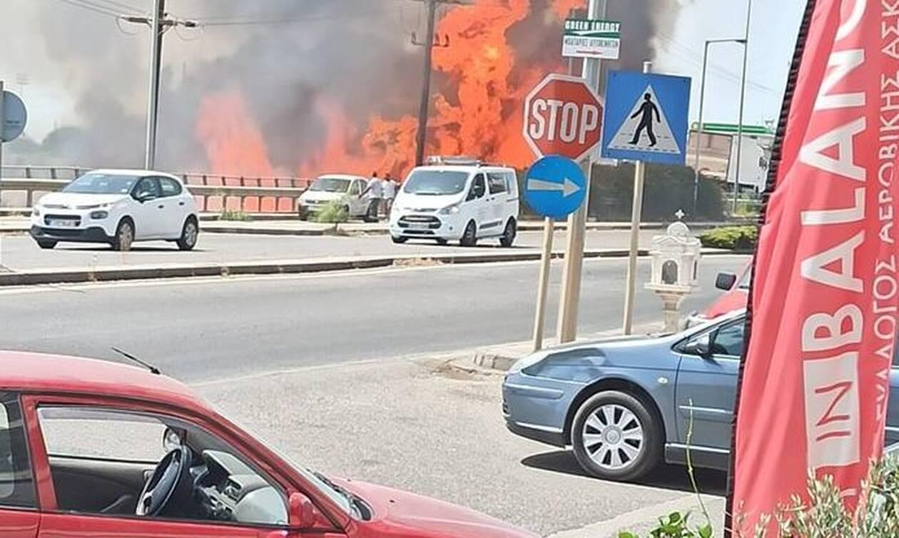 Φωτιά ΤΩΡΑ στο Αγρίνιο: Κινείται προς Αγιο Κωνσταντίνο -Κοντά στην εστία υπάρχει αποθήκη με υγραέριο