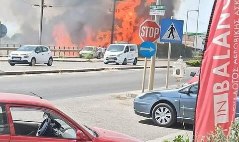 Φωτιά ΤΩΡΑ στο Αγρίνιο: Κινείται προς Άγιο Κωνσταντίνο -Κοντά στην εστία υπάρχει αποθήκη με υγραέριο