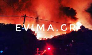 LIVE BLOG: Νύχτα αγωνίας σε Ηλεία, Μεσσηνία και Εύβοια - Τεράστια μάχη με τις φλόγες