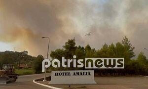 Φωτιά ΤΩΡΑ: Καίγεται ξανά η Αρχαία Ολυμπία - Μάχη να μην περάσουν οι φλόγες στον αρχαιολογικό χώρο