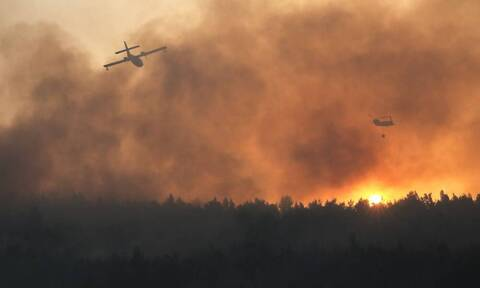 Φωτιά στη Βαρυμπόμπη: Πρόβλημα στην προπόνηση της ΑΕΚ (photos)