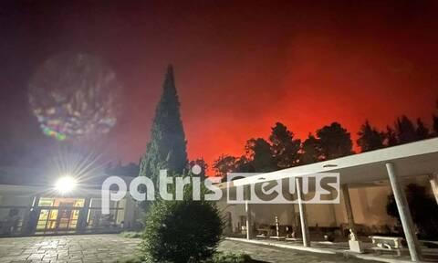 Φωτιά στην Ηλεία: Χωρίς ρεύμα η Αρχαία Ολυμπία – Κινδυνεύει ο αρχαιολογικός χώρος