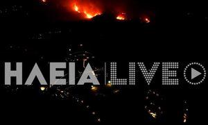 Φωτιά ΤΩΡΑ στην Αρχαία Ολυμπία: Τρομακτικές οι εικόνες από drone