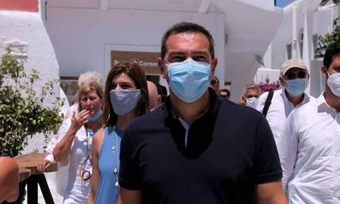 Στη βόρεια Εύβοια ο Αλέξης Τσίπρας - Στις πληγείσες από την πυρκαγιά περιοχές
